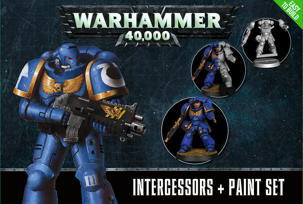 Space Marine Intercessors & Paint Set