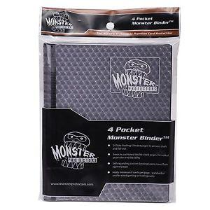 Monster 4-Pocket Folder Black Holo