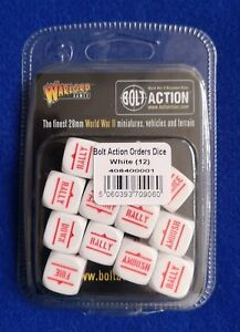 Bolt Action: Orders Dice - White (12)