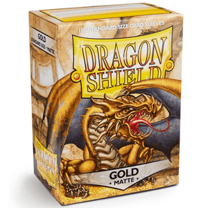 Dragon Shield Gold Matte 100 Protective Sleeves