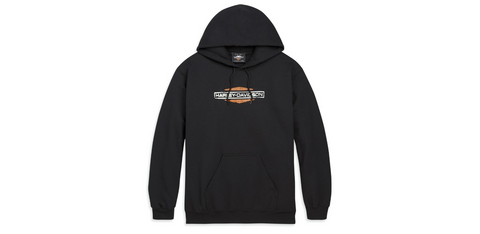 Patina Sixties Bar & Shield Logo Pullover Hooded Sweatshirt