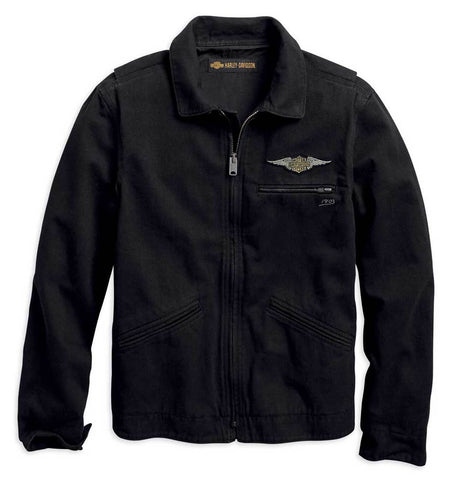 Winged Logo Slim Fit Casual Jacket