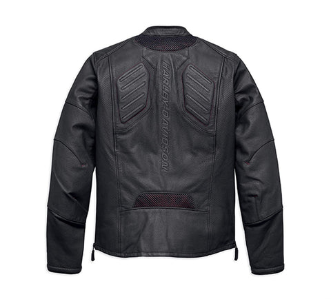 FXRG® Perforated Slim Fit Leather Jacket