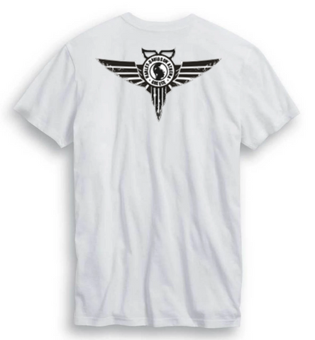 Elongated B&S White T-Shirt