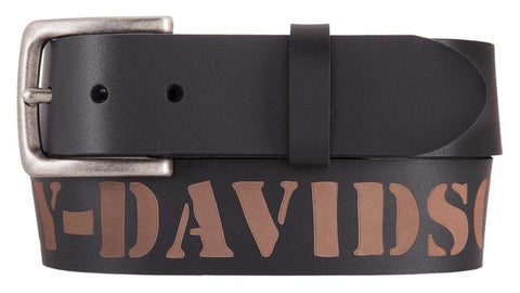 Outlaw HD Genuine Black Leather Belt