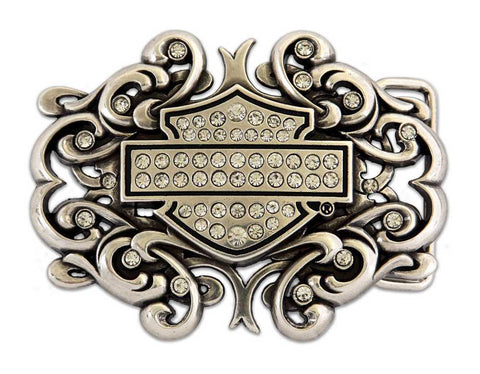 Belt Buckle Bar & Shield Scroll