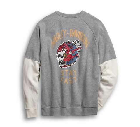 Stay Fast Two-Fer Sweatshirt