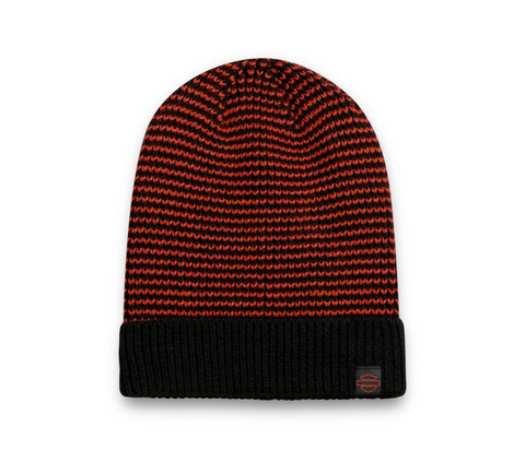 Patch Knit Hat - Orange