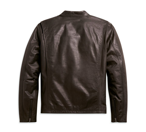 Cafe Racer Leather Jacket Brown