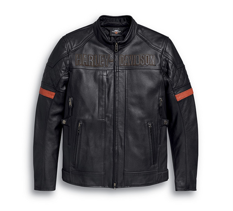 Vanocker Waterproof H-D® TRIPLE VENT SYSTEM™ Leather Jacket