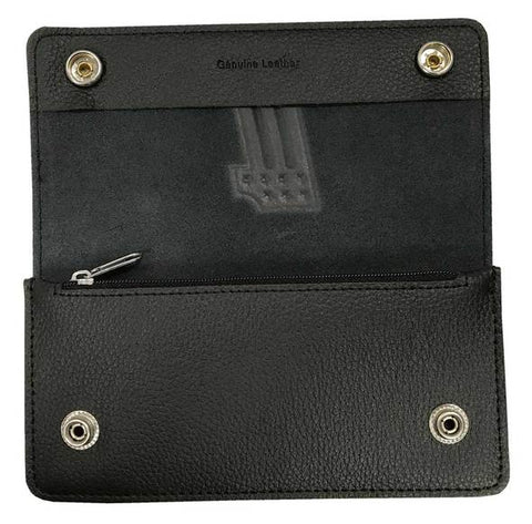 Embossed #1 Tall Trucker Biker Wallet