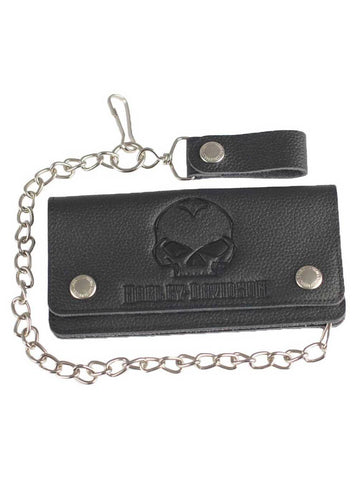 Willie G Skull Tall Trucker Biker Wallet