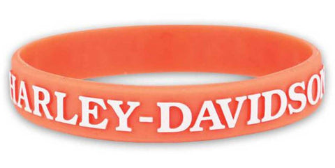 Women's V-Twin Power Silicone Wristband, Light Orange