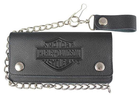 Embossed B&S Tall Trucker Biker Wallet