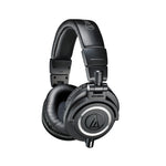Audio Technica ATH-M50X Professional Studio Monitor Headphones, Black