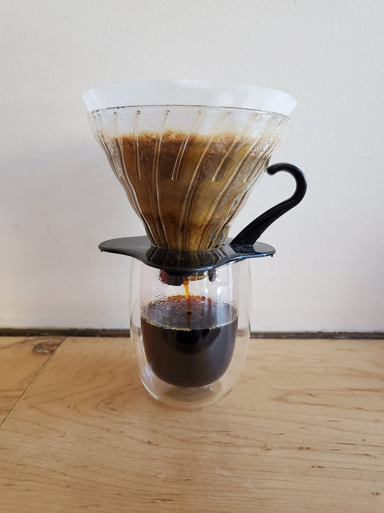 * Brewing Equipment - Hario V60-01 Glass Dripper Pourover