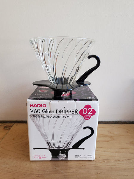 * Brewing Equipment - Hario V60-02 Glass Dripper Pourover