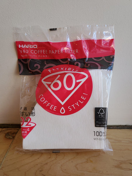 * Brewing Equipment - Hario V60-02 Glass Dripper Pourover Paper Filters