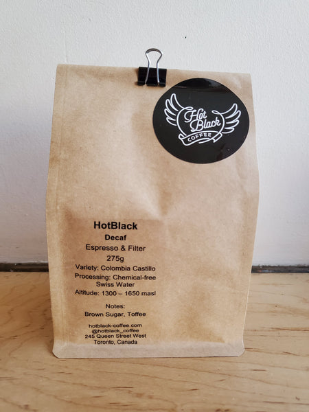 # HotBlack Decaf Blend Espresso & Filter Coffee Beans (buy two items and get 25% off everything)