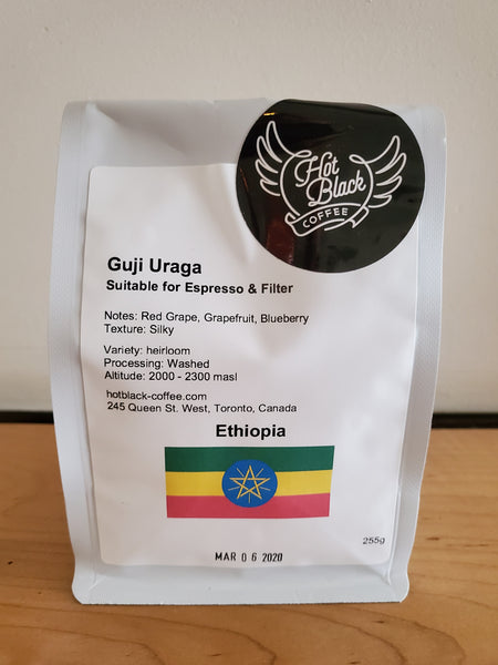 ## Ethiopia Guji Uraga Single Origin Espresso & Filter Coffee Beans (buy two items and get 25% off everything)