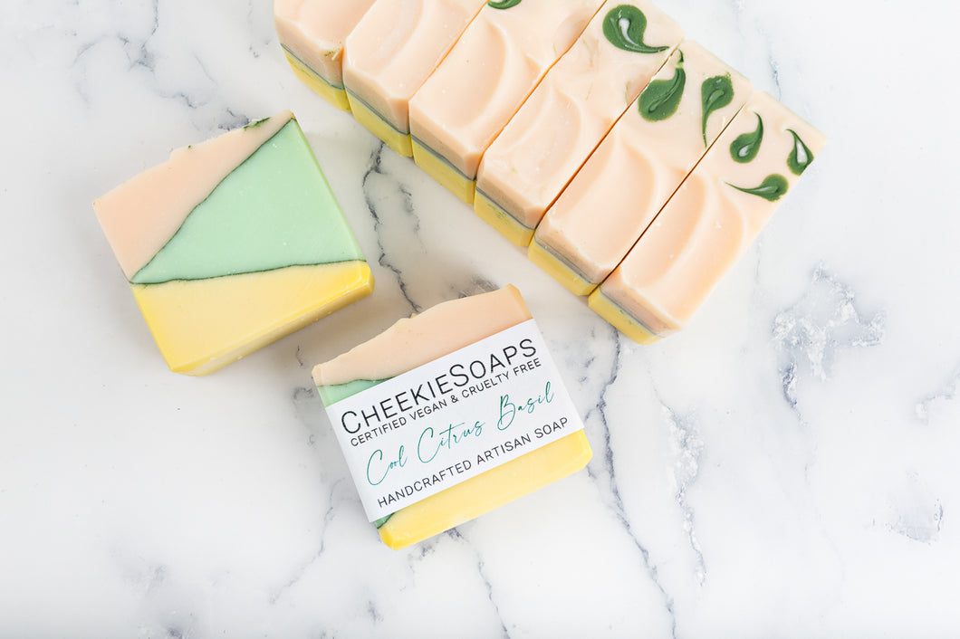 Cool Citrus Basil Artisan Soap