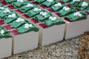 White Christmas Artisan Soap