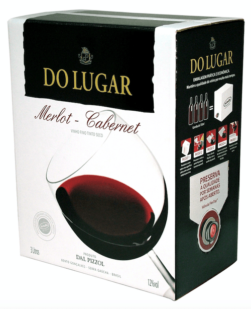 Bag Do Lugar Dal Pizzol Vinho Merlot / Cabernet 3 LT