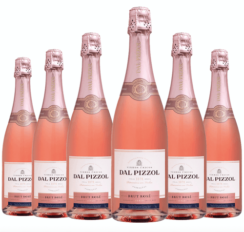 Espumante Brut Rosé Dal Pizzol Kit c/6 750ml
