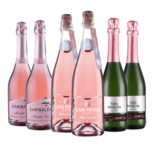 Espumante Moscatel Rosé Kit c/6 750ml