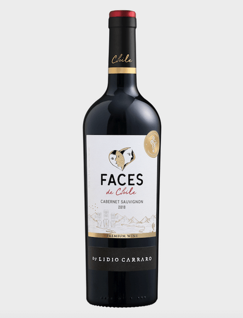 Lidio Carraro Faces de Chile Cabernet Sauvignon Vinho 750ml