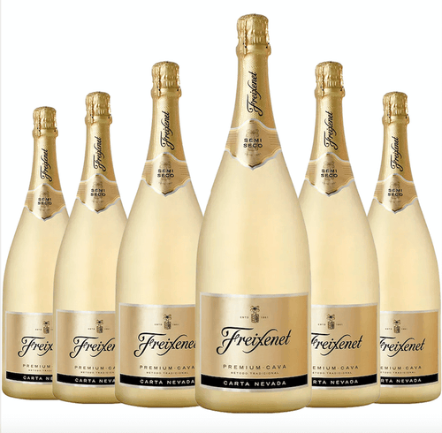 Freixenet Espumante Carta Nevada Demi-Sec Kit c/6 750ml