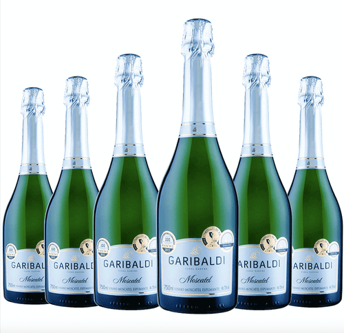 Espumante Garibaldi Moscatel kit c/6 750ml