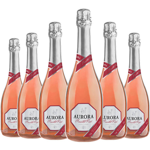 Aurora Espumante Moscatel Rosé kit c/6 750ml