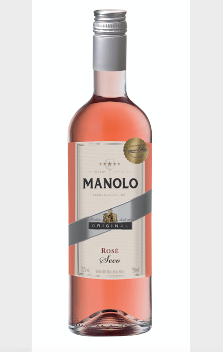 Peterlongo Manolo Vinho de Mesa Rosé Seco 750ml