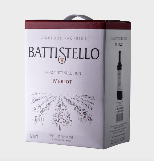 Battistello Vinho Tinto Merlot Bag 3lt