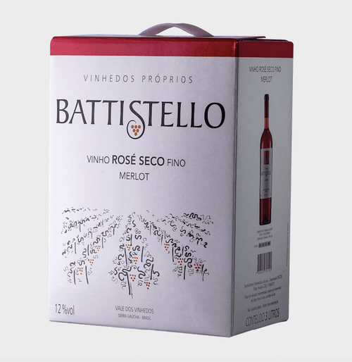 Battistello Vinho Merlot Rosé Bag 3lt