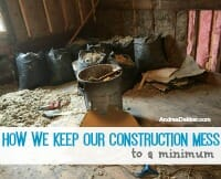 Comment on How We Keep Our Construction Mess to a Minimum by Eli Richardson