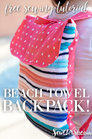 How to Sew a Beach Towel Backpack - the best free sewing pattern
