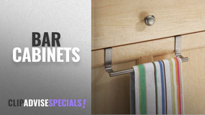 Top 10 Bar Cabinets [2018]: Getko Simple Stainless Steel Door Hook Over Cabinet Kitchen Dish Towel ...