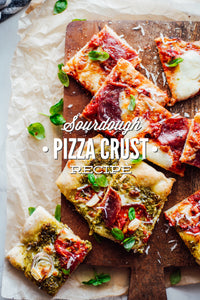 Today's recipe, sourdough pizza crust, is the second sourdough recipe I've shared this week