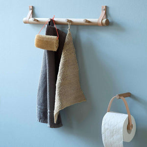 Easy Upgrade: Scandi Leather and Wood Bath Storage