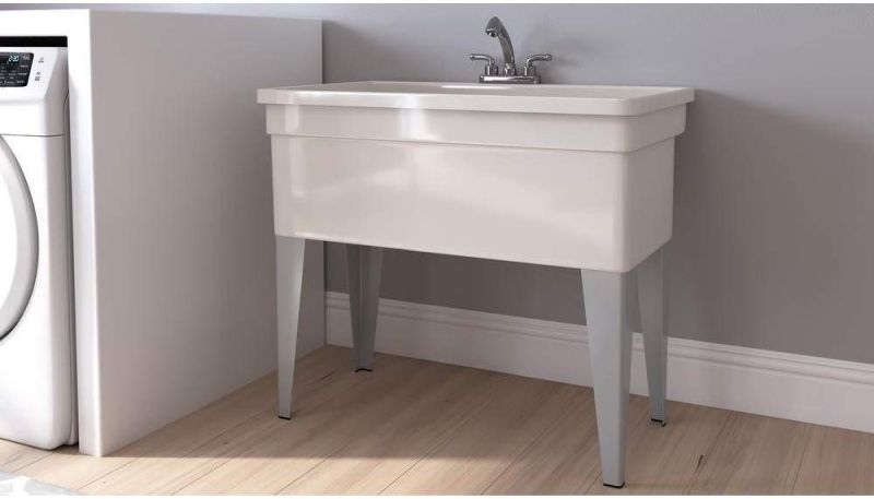 A utility sink or tub, often also referred to as a laundry sink, is a fixture usually found in garages and laundry rooms