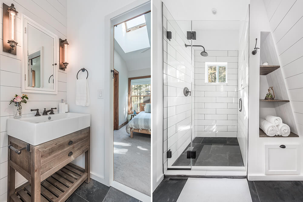 Nate & Michelle's country escape bathroom is everything we love about farmhouse modern