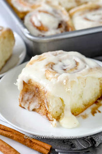 Homemade Cinnamon Rolls with Cream Cheese Icing!