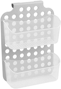 madesmart Adjustable Hanging Storage - 2 Bins - Lt. Grey, Frost | CABINET COLLECTION | Over The Door Organizer | Space Saving | BPA Free