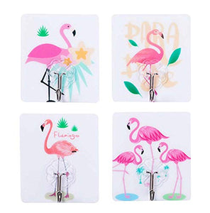 Black Temptation [Flamingo] 20 Pcs Practical Wall Hook Door Hooks Towel Hook Self Adhesive Hooks