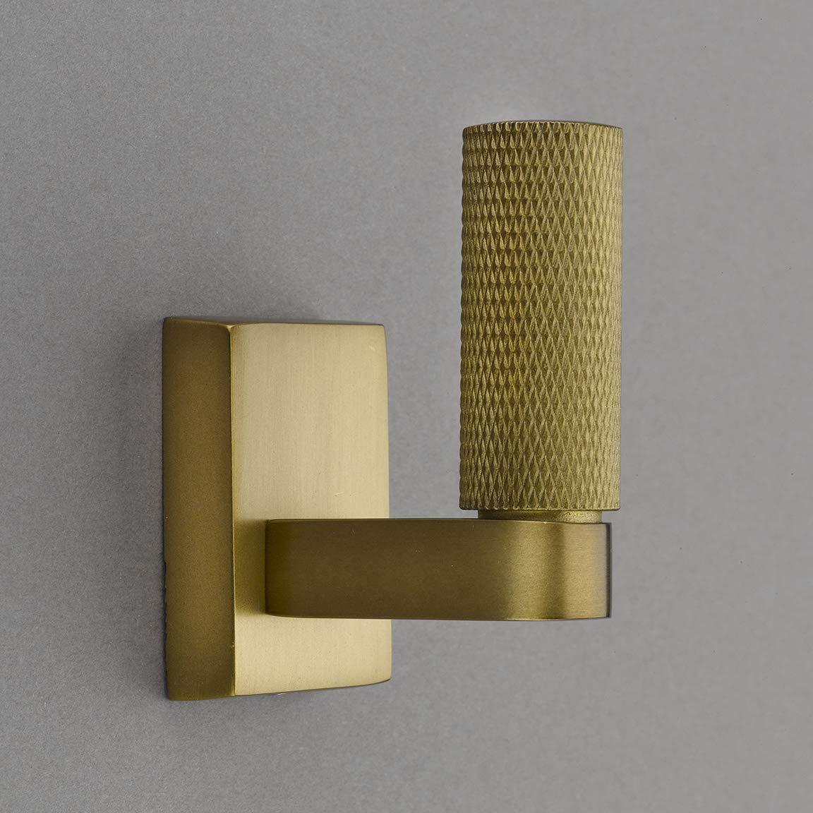 Belle Knurled Collection Burnished Brass Towel Hook/Robe Hook - Good for Kitchen, Bathroom, Bedroom, Or Closet Hardware - P100-11/4556