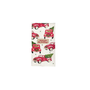 Mud Pie Vintage Holiday Christmas Dish Bath Embellished Hand Towel