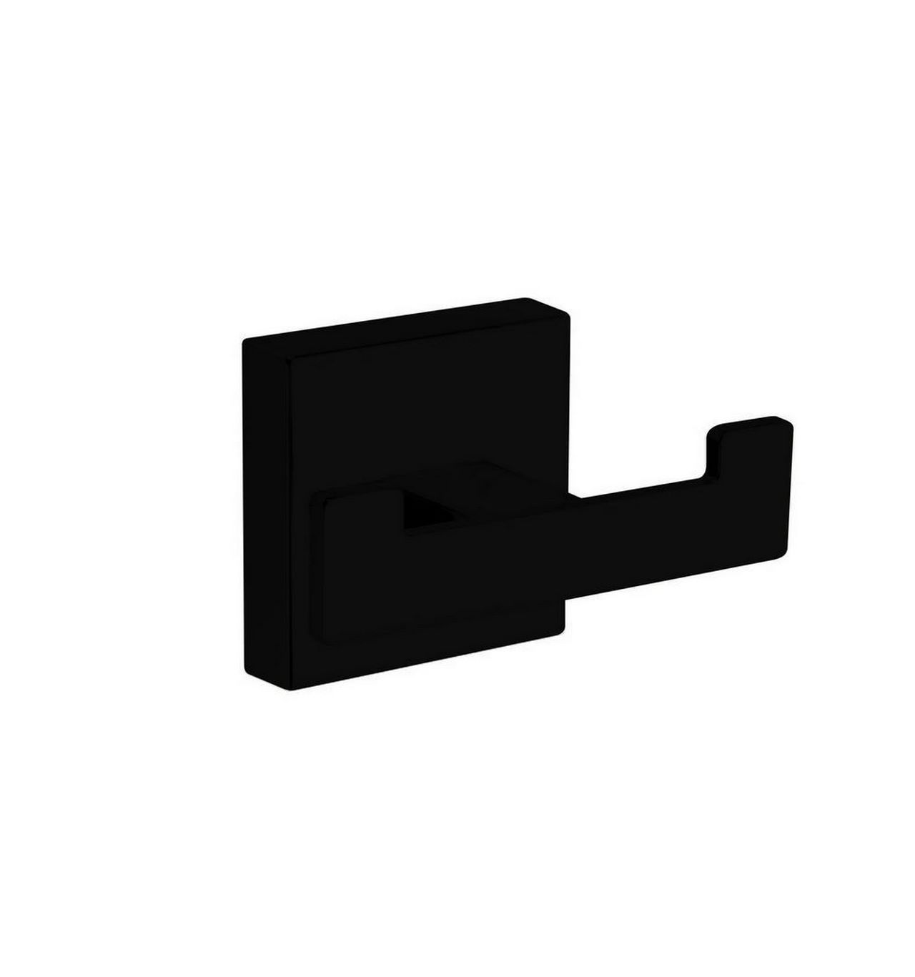 Aqua Plato, Kubebath, Matte Black Double Towel Hook