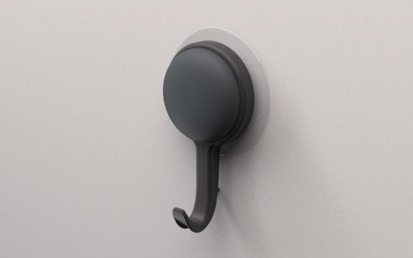 Drill Free - Robe hook, Suction Cup, Stick on, Suction, No drill, Black or White